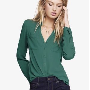 EXPRESS Slim Fit Portofino Forrest Green Shirt